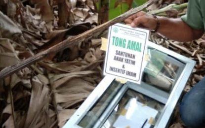 Kotak Amal Masjid Nurul Hasanah Paya Manggis Ditemukan Dipekarangan Warga