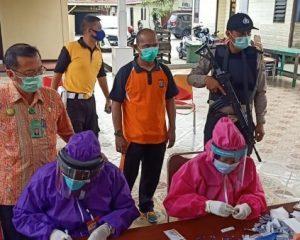 Polsek Bangko Lakukan Rapid Tes kepada Tahanan