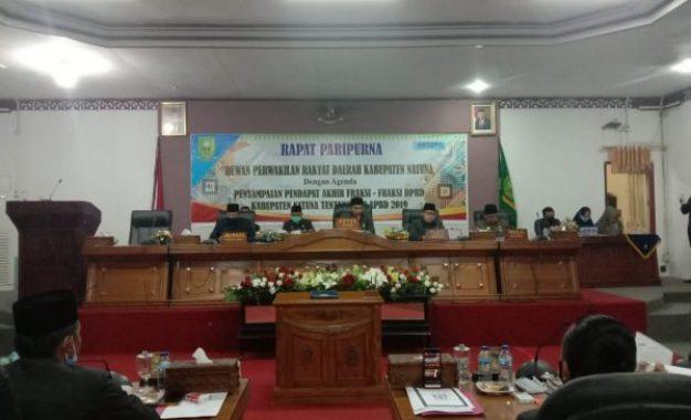 DPRD Kabupaten Natuna Adakan Rapat Paripurna Tentang LPP APBD Tahun 2019