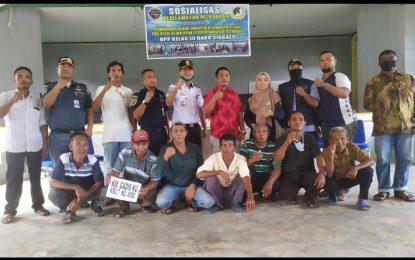 KPLP Dabo Singkep Gelar Sosialisasi Pas Kecil Bersama Nelayan Sungai Pinang