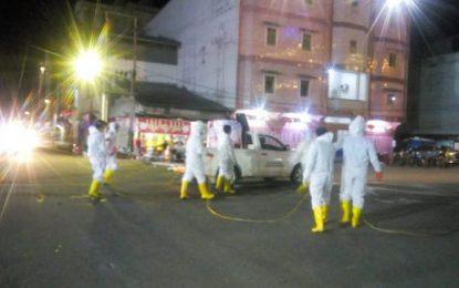 Yayasan Multy Marga Tionghoa Rohil Kembali Semprotkan Disinfektan di Kota Bagansiapiapi