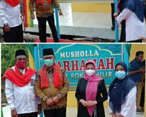 Didampingi Istri, Bupati Rohil Resmikan Mushola Marhamah di MAN I Rohil