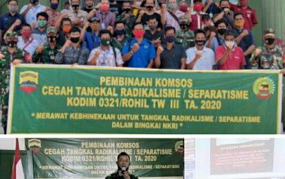 Kodim 0321/Rohil Gelar Komsos Cegah Radikalisme