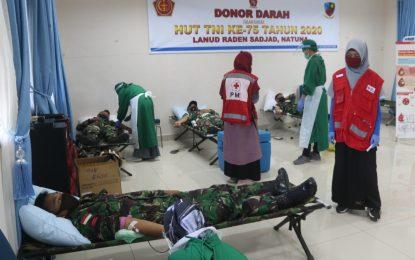 Meriahkan HUT TNI ke-75, Lanud RSA Gelar Donor Darah