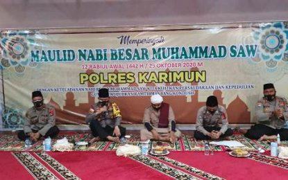 Polres Karimun Gelar Peringatan Maulid Nabi Muhammad SAW 1442 H