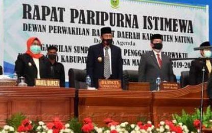 Bupati Natuna Hadiri Pelantikan PAW Ketua DPRD Kabupaten Natuna