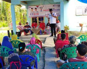 Paslon SUDIN Disambut Antusias Warga Tanjung Melawan