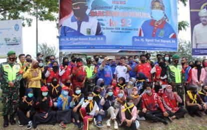 Hari Sumpah Pemuda ke-92 KNPI Natuna Gelar Aksi Berbagi Masker