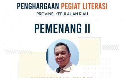 Faisal Raih Juara 2 Penggiat Literasi Tingkat Provinsi Kepri
