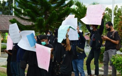 Mahasiswa Natuna Kembali Demo Tolak Omnibus Law