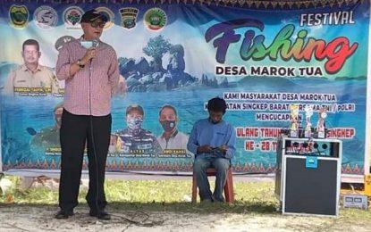 Lakukan Kunker, PJs Bupati Lingga Tutup Festival Fishing Desa Marok Tua