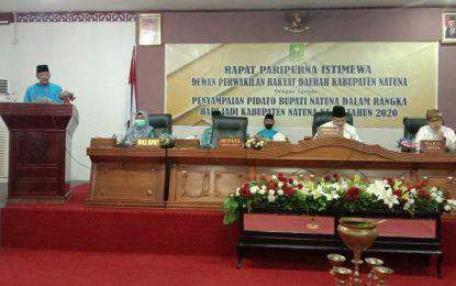 Daeng Amhar Pimpin Paripurna HUT Natuna ke 21