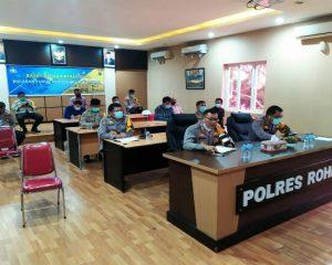 Polres Rohil dan Jajaran Gelar Rapat Operasional Pilkada Serentak