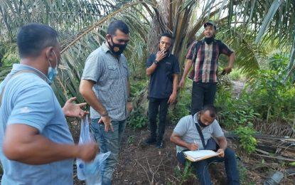 Penyidik Polres Pelalawan Cek Objek Perkara Lahan 12 Hektar