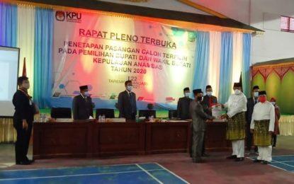KPU Tetapkan Haris-Wan sebagai Bupati dan Wakil Bupati Kepulauan Anambas