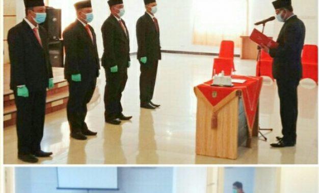 Bupati Suyatno Lantik Direksi BUMD PD Sarana Pembangunan Rohil