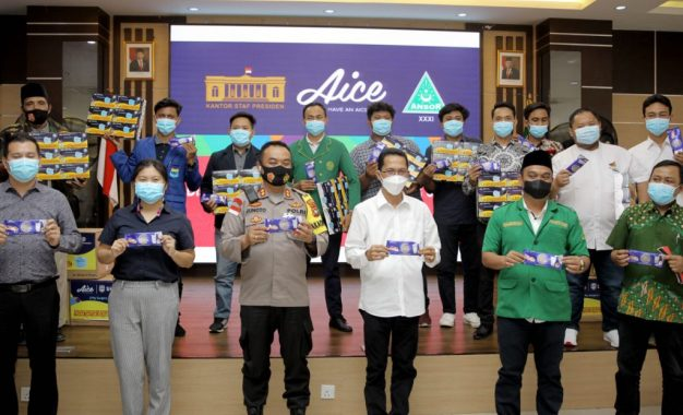 Untuk Indonesia Maju, Aice Grup dan GP Ansor Distribusikan 150 Ribu Masker