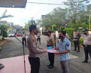 Personel Polsek Bangko Kembali Terima Penghargaan