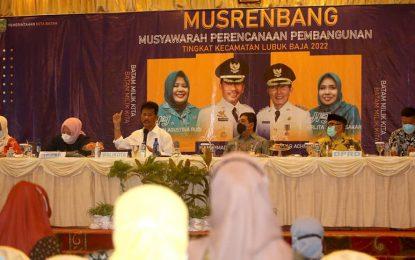 Kecamatan Lubukbaja Ajukan 20 Usulan Utama untuk Tahun 2022