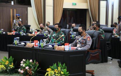 Rapim TNI-Polri Digelar, Solidkan Barisan Kawal Vaksinasi hingga Pemulihan Ekonomi